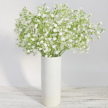 5 Branch Plastic Artificial Flowers Bouquet White Gypsophila DIY Wedding Home Balcony Outdoor Decoration babysbreath Fake Flower(China)
