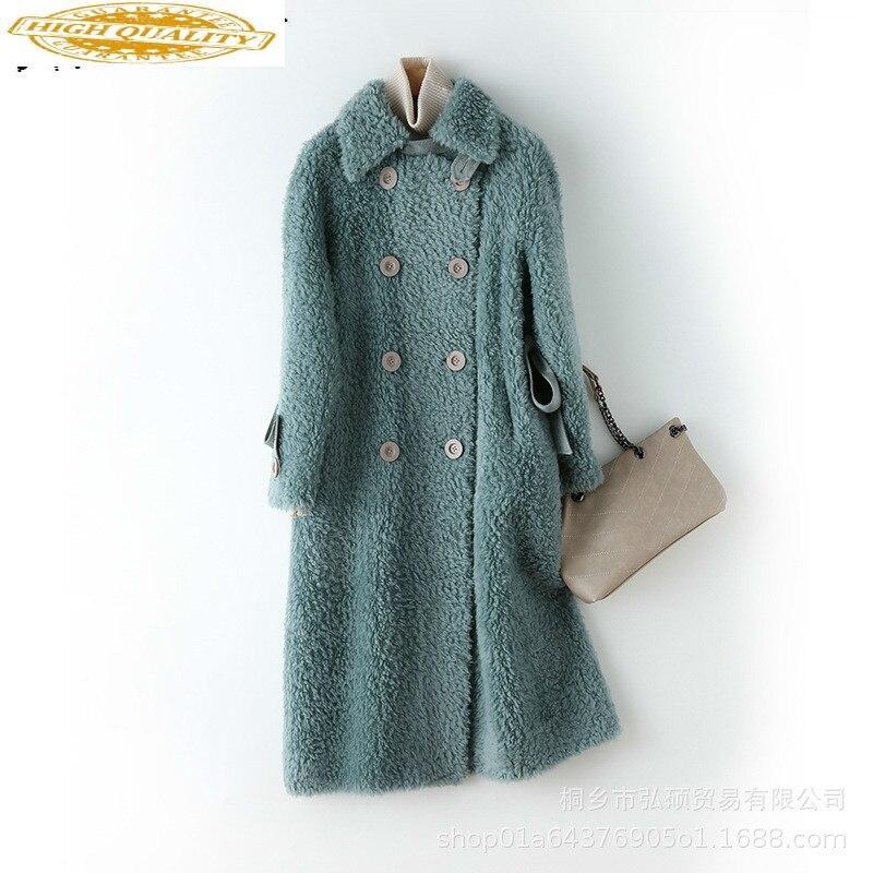 Autumn Winter Coat Women Clothes 2019 Sheep Shearing Real Fur Coat 100% Wool Jacket Women Korean Vintage Fur Tops Z-099 YY1941