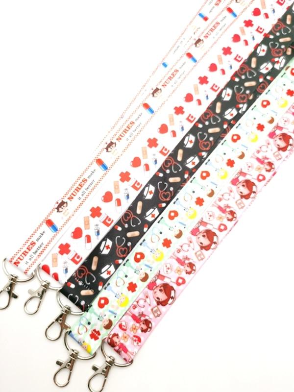 New cartoon Nurse  Doctors  Neck Strap Lanyards  Badge Holder Rope Pendant Key Chain Accessorie