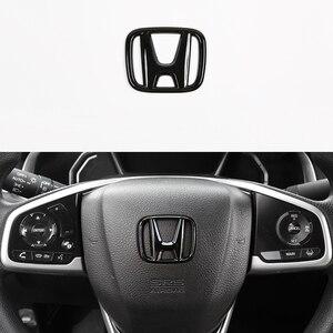 Эмблема багажника на руль автомобиля из АБС, логотип передней решетки радиатора для Honda Civic 2019, 2018, 2017, 2016, декоративные аксессуары для автостайлинга