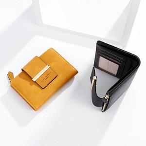Image 3 - 2020 ใหม่สตรีสั้นกระเป๋าสตางค์สุภาพสตรีกระเป๋าเงินขนาดเล็ก Bifold กระเป๋าสตางค์ซิปกระเป๋าสำหรับหญิงสีเหลือง