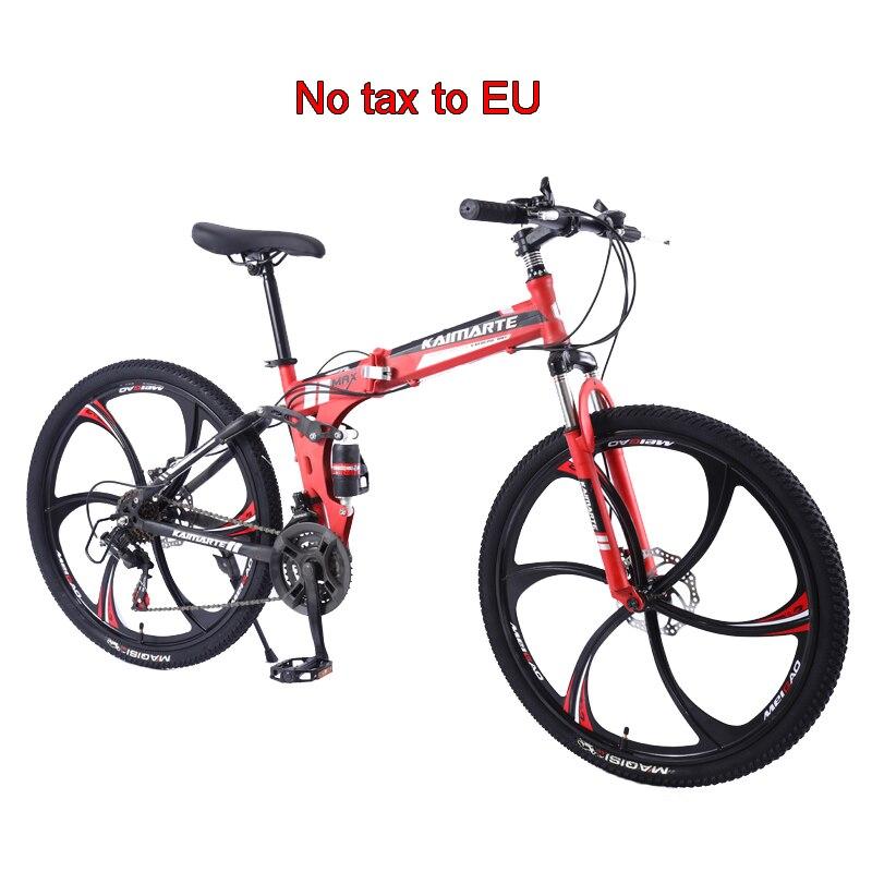 26 pulgadas plegable bicicleta de montaña/21/24/27/30 de velocidad Variable bicicleta alta de acero al carbono para estudiante MTB 3/cuchillo de 6/10 de bicicleta de rueda