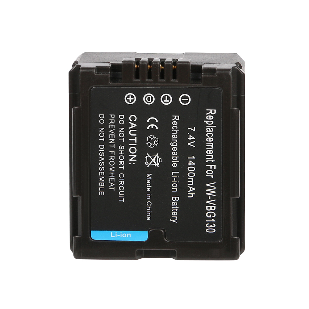 OHD Original 1400mAh VW-VBG130 VWVBG130 VW VBG130 Digital Camera Battery For <font><b>Panasonic</b></font> <font><b>SDR</b></font>-<font><b>H80</b></font> HDC-DX5 HDC-TM20 image