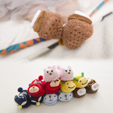 Baby Socks Autumn Winter Boat Infant Newborn Silica Gel Non-slip Girl Clothes Sock Cartoon Christmas Gift