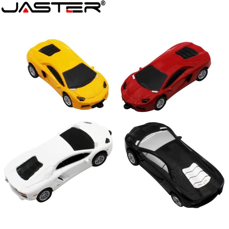 JASTER Fashion Hot Selling Metal Car Model External USB 2.0 4GB 8GB 16BG 32GB 64GB Storage Memory Stick USB Flash Drive