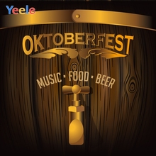 Yeele Oktoberfest Carnival Wood Barrel Beer Music Photography Backdrops Personalized Photographic Backgrounds For Photo Studio