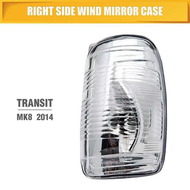 TRA054 *FORD TRANSIT MK8 2014/> CLEAR MIRROR INDICATOR LH 2 PIN PUSH ON FITTING