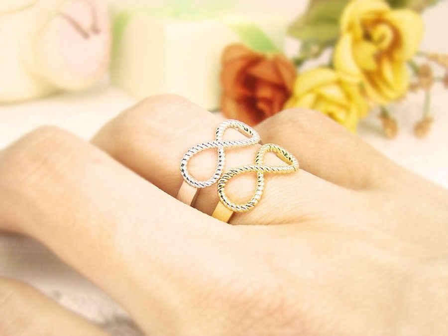 אינפיניטי טבעת הטובה ביותר חבר טבעות נצח קסם הטוב ביותר מתנת אהבה אינסופית סמל טבעת עבור נשים המפלגה Dropshipping