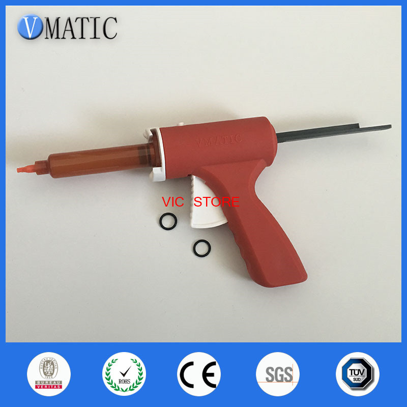 Free Shipping 10ml Manual Syringe Gun Single Liquid Glue Gun 10cc 1Pc & 10cc Cone 2Pcs &Dispensing Tips + 10cc Dispenser Syringe