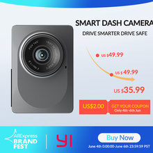 """YI Inteligente Câmera Traço Versão Internacional WiFi Night Vision HD 1080P 2.7 """"165 graus 60fps ADAS Lembrete Seguro câmera"""
