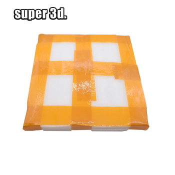 3D Yazıcı Yuvarlak Borosilikat cam plaka ısıtmalı yatak Çapı 200/220/240mm Düz Şeffaf Temperli Cam Kossel delta