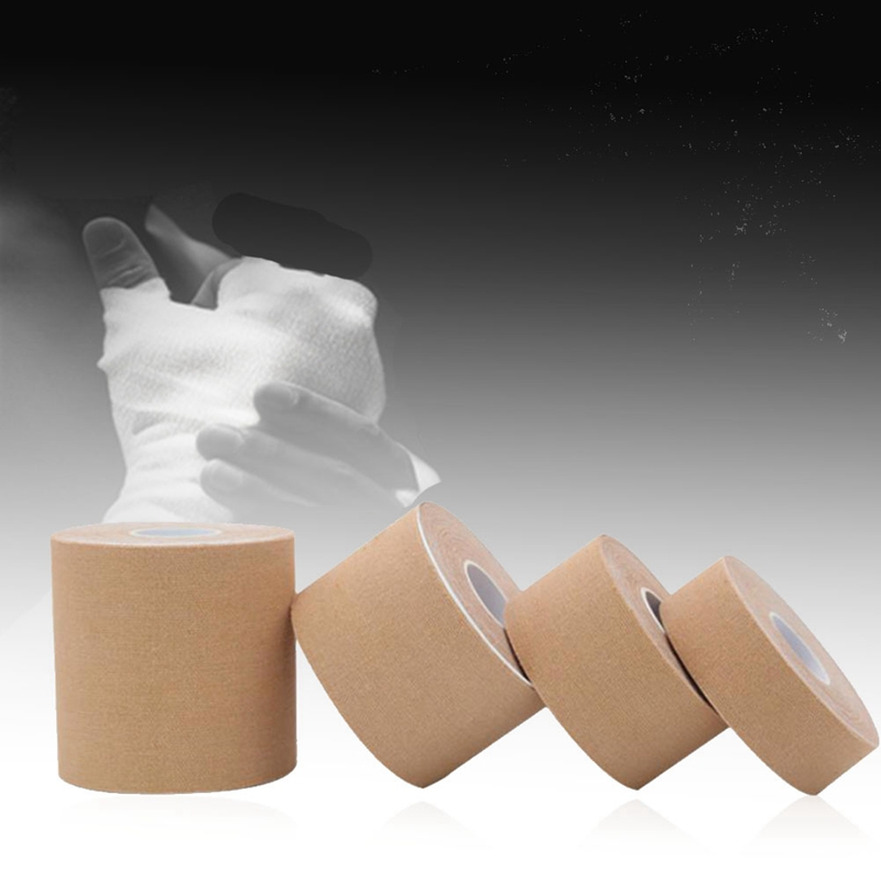 Kinesiology Muscle Tape Outdoor Sports Cotton Elastic Patch Roll Kneepads Adhesive Bandage Protect Gear Sports Safety Knee Pad