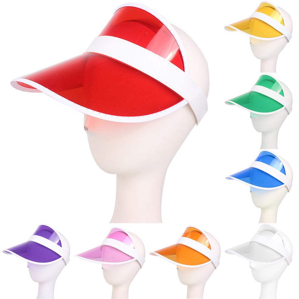 New Summer UV Plastic Visor Sun Hats Men Outdoor Clear Dealer Tennis Beach Hat Protection Caps chapeu Feminino