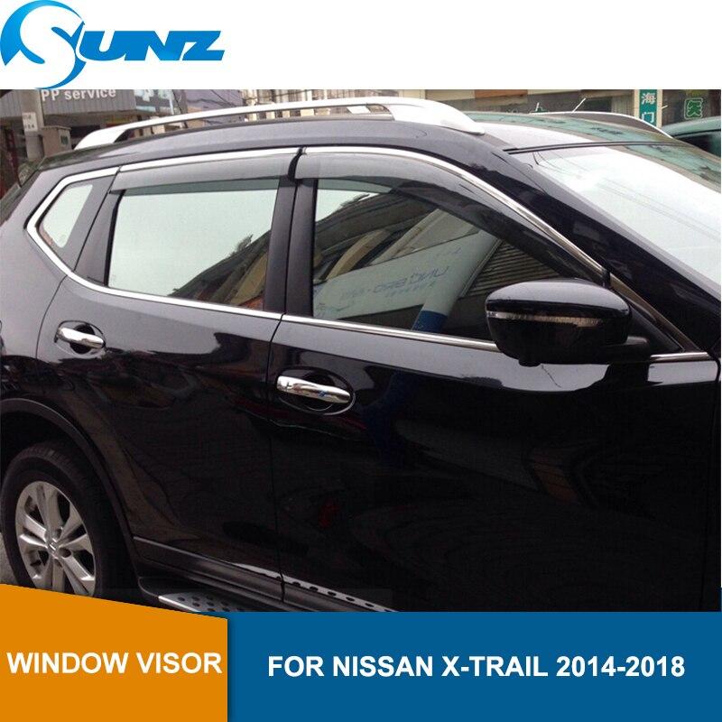 Ventana parasol para NISSAN X-TRAIL 2014-2018 ventana deflectores lluvia guardias para NISSAN X-TRAIL 2014-2018 riovalle   energía