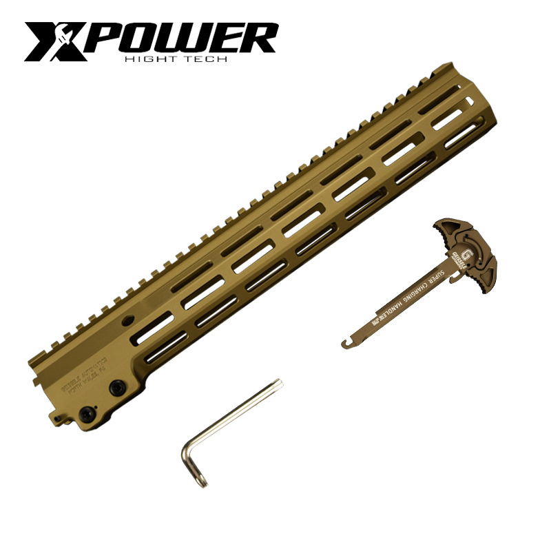 XPOWER MK16 Rail Handguard Paintball Accessories part  Fighting Bro Metal refit accessories gel blaster toy accessories-0
