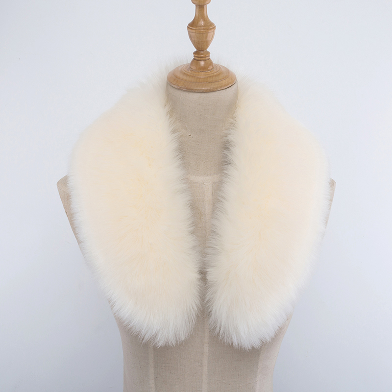Sexy Women\'s Imitation Faux Fur Fake Collar Plush Collar Down Jacket Cap Fake Collar Scarf Warm Scarf