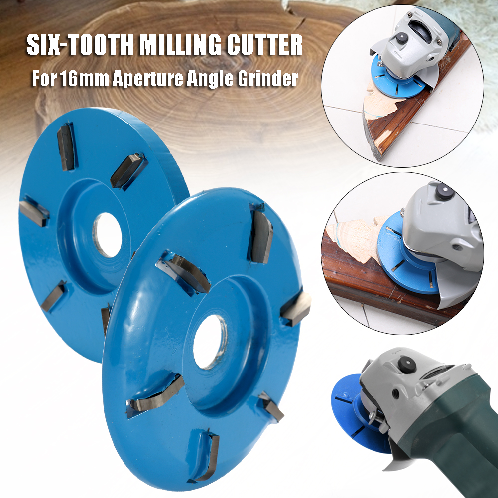 Three/Six Teeth High-Performance Hardness Power Wood Carving Disc Tool Milling Cutter For 16mm Aperture Angle Grinder