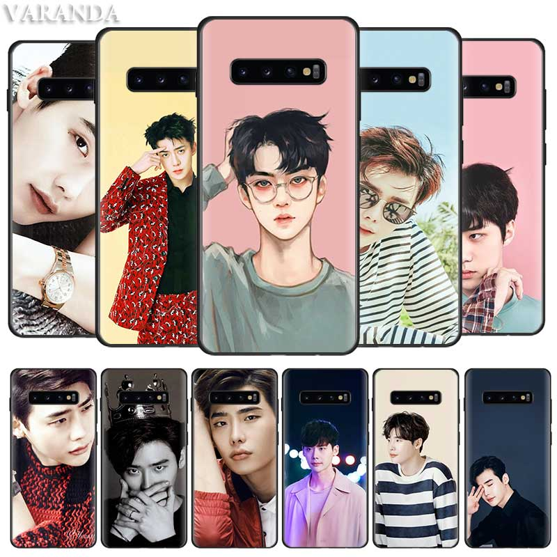 Lee Jong Suk <font><b>Korean</b></font> Singer <font><b>Case</b></font> for <font><b>Samsung</b></font> Galaxy S10 5G S10e Note 10 8 9 S9 <font><b>S8</b></font> S7 Plus S7 Edge Black Silicone Coque Cover image
