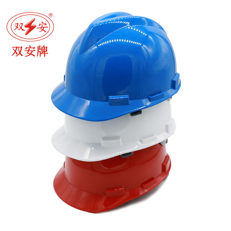 Shuang An Brand V-Shaped Safety Helmet ABS Material Architecture Construction Smashing Helmet High Strength Impact Resistance Sa