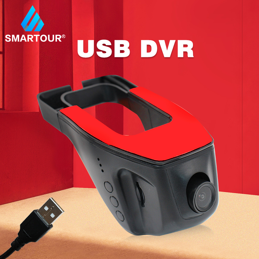 Smartour Car <font><b>Cam</b></font> Dash Video Recorder Night Vision kamera Auto Cars <font><b>USB</b></font> <font><b>DVR</b></font> ADAS Para Auto Multimedia Driving Recorder Camera image