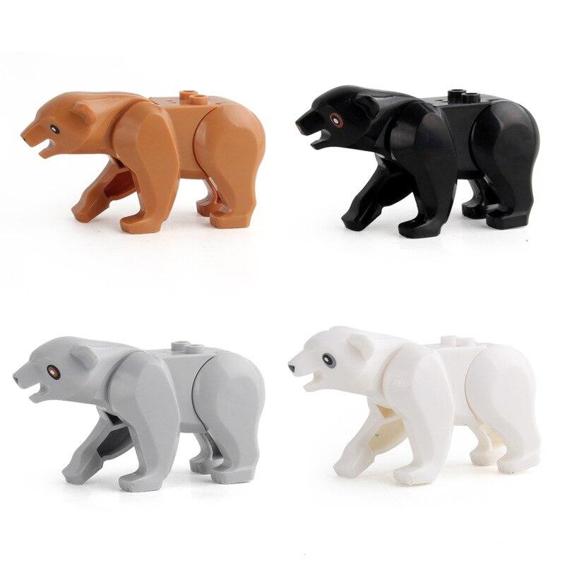 Building blocks animals assembled educational toys building blocks giraffe polar bear variety