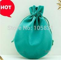 100PCS Customized Logo Small Round Velvet Pouches Jewelry Gift Bags 7cmx9cm 8.5x11cm Ring Earring Stud Jewelry Pouch 10 colors