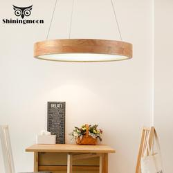 Lampy wiszące do jadalni nowoczesny pilot lampa wisząca restauracja kawa z litego drewna lampa wisząca sypialnia Luminaria|Wiszące lampki|   -