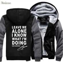 Leave Me Alone I Know What IM Doing Hoodie Sweatshirts Men 2018 Casual Winter Zipper Fleece Mens Hoodies Thick Coat Sportwear
