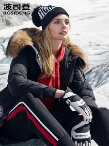 Image 2 - BOSIDENG harsh winter jacket women goose down coat big natural fur outlife waterproof windproof thicken long parka B80142154