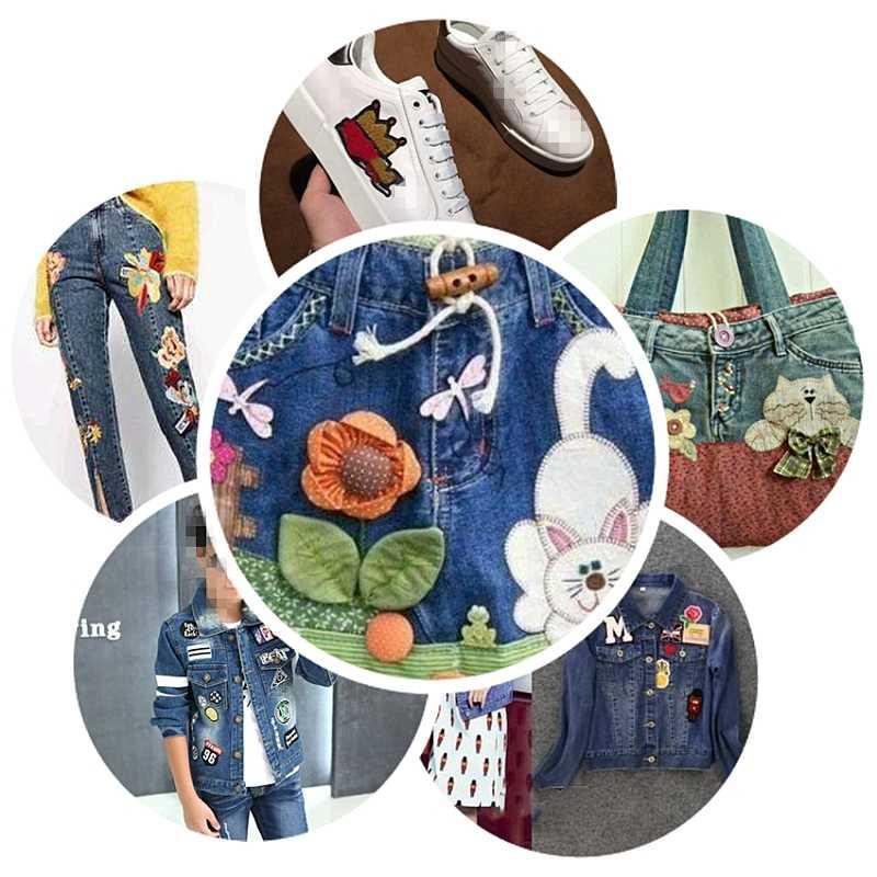 Patch per Abbigliamento Ferro sul Cucito Ricamato Applique Sveglio Cucire Su Tessuto Distintivo Del Fumetto lampo stella FAI DA TE Accessori di Abbigliamento