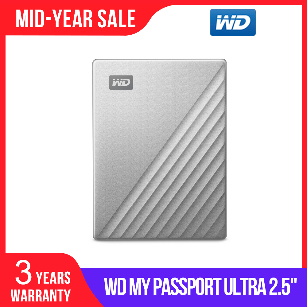 Western Digital WD My Passport Ultra 1TB 2TB 4TB External Hard Drive Disk USB C 256 AES Portable Encryption HDD for Windows Mac-in External Hard Drives from Computer & Office