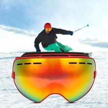 Double-layer PC Lens Ski Glasses Large Spherical Snow Goggles Lightweight Durable and Removable 40DC18