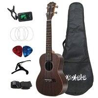 Концерт Гавайская гитара 23 дюймов палисандр деревянная акустическая укулеле 4 струны Гавайская гитара; музыкальные инструменты