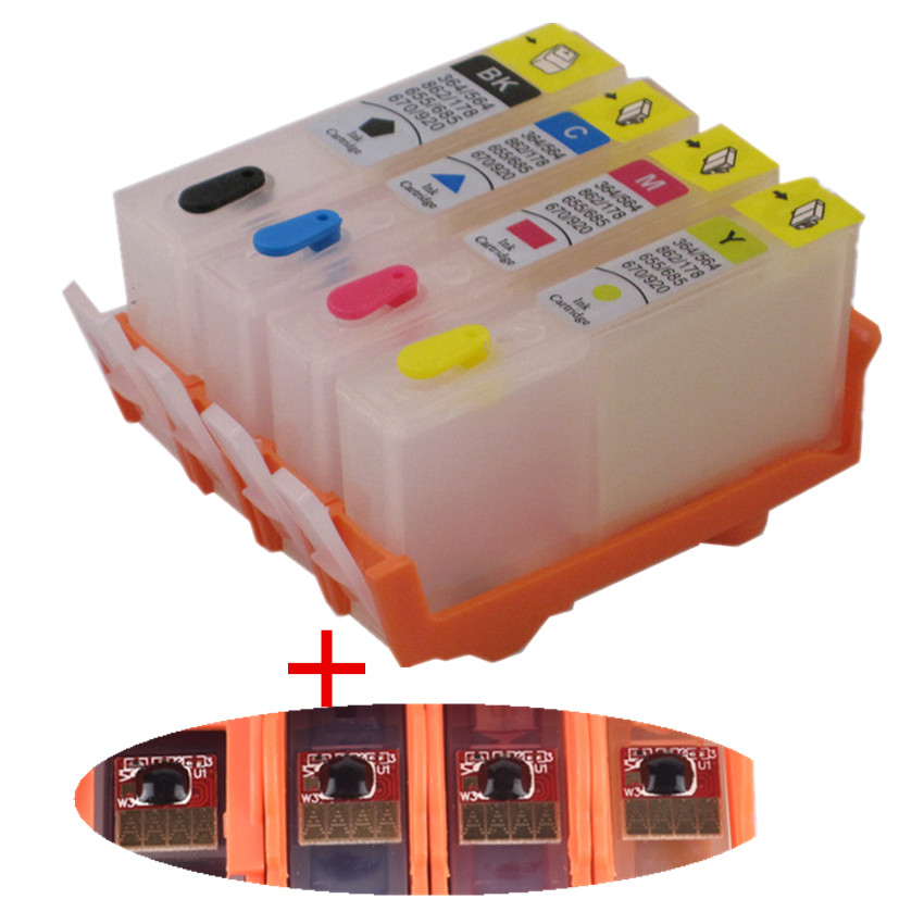 Di ricarica Per HP 903 904 905 cartuccia di inchiostro riutilizzabile con il circuito integrato ARC PER HP OfficeJet pro 6950 6951 6954 6956 pro 6960 6970 stampante