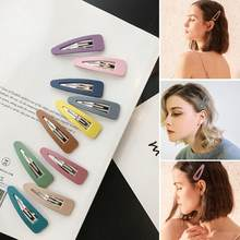 Korea Ins Hair Clip Net Red Clip Headgear Child Scrub Bb Clip Macaron Hairpin Japanese Girl Heart Clip Candy Color Side Clip(China)