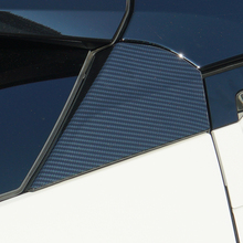 Carbon Fiber Rear Side Window Triangle Trim Cover For Toyota CHR 2018 Side Wing Spoiler Sticker For Toyota C-HR 2017 2018 2019