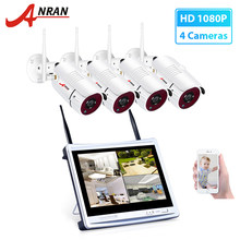 ANRAN 12inch LCD Monitor 2MP CCTV Camera System 1080P Wireless NVR Kit Video CCTV Surveillance System Set P2P Waterproof Outdoor(China)