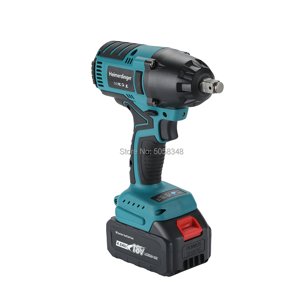 Tools : True 550N m lithium-ion brushless impact wrench with one 18V 4 0Ah battery for car repair truck repair