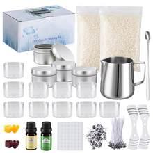 1 Set fabricación de velas suministros vela materiales copa de cera Kit de artesanía perfumada vela hogar Decoración regalo