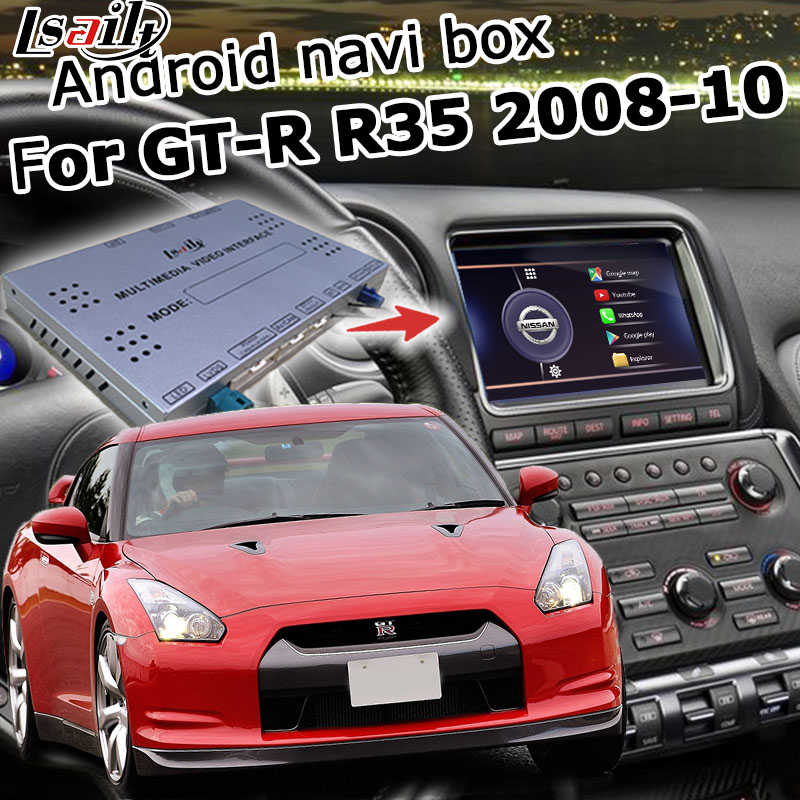 Android / Carplay Interface Box For Nissan GTR GT-R R35 2008-2010, With Youtube Waze Optional By Lsailt