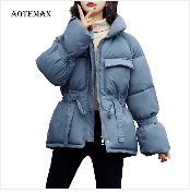 Autumn Winter Coat Women 2019 Fashion Vintage Slim Double Breasted Jackets Female Elegant Long Warm White Coat casaco feminino 101