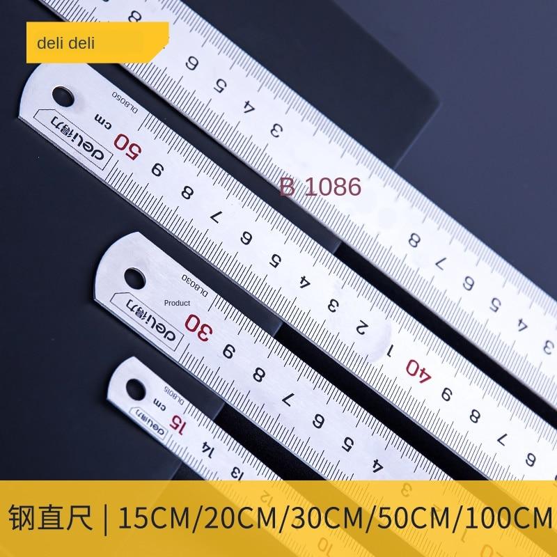 Steel Ruler Straight Ruler 15cm/30cm/50cm Stainless Steel Measuring Tool Steel Ruler Woodworking Drawing Drawing Tool