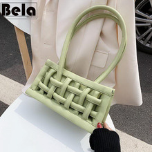 BelaBolso Hollow Design Shoulder Bag Women PU Leather Bags Fashionable Tote Baguettes Bag Simple Ladies Purse And Handbag HMB781 charming women s tote bag with crocodile print and pu leather design