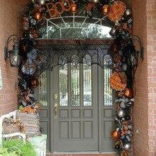 Cobweb Fireplace Scarf Halloween Party Decoration Lace Black Spider Web Mantle 188cm*90cm haloween decoration Home Supplies