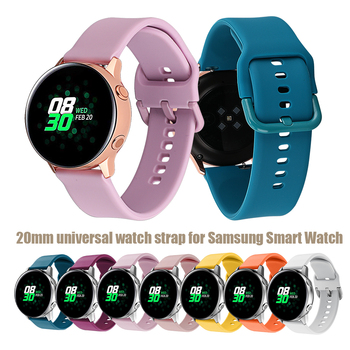 20mm Strap for Samsung Galaxy Watch 42mm/Active Silicone Bracelet Strap for for Gamin Vivoactive 3 for Huawei Watch 2 Band image