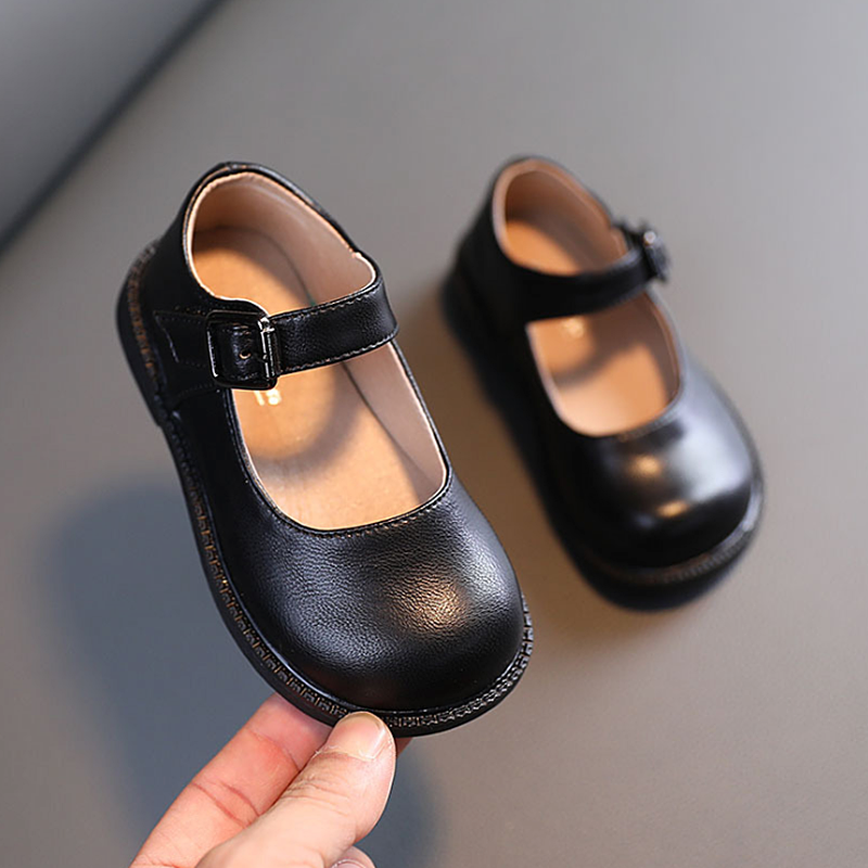 AOGT 2021 Spring New Baby Girls Shoes Genuine Leather Princess Shoes Comfortable Soft Casual Infant Shoes For Girl Black Red