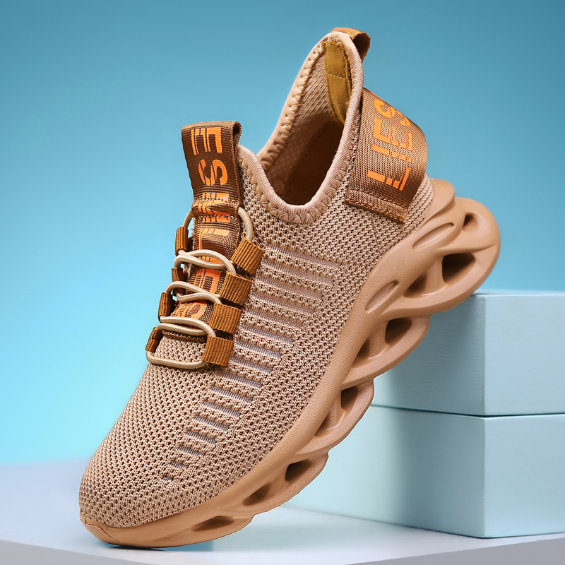 Fashion School Kids Running Shoes Boys Breathable Mesh Sport Sneakers Children Walking Casual Shoes Girl Lightweight Sneakers
