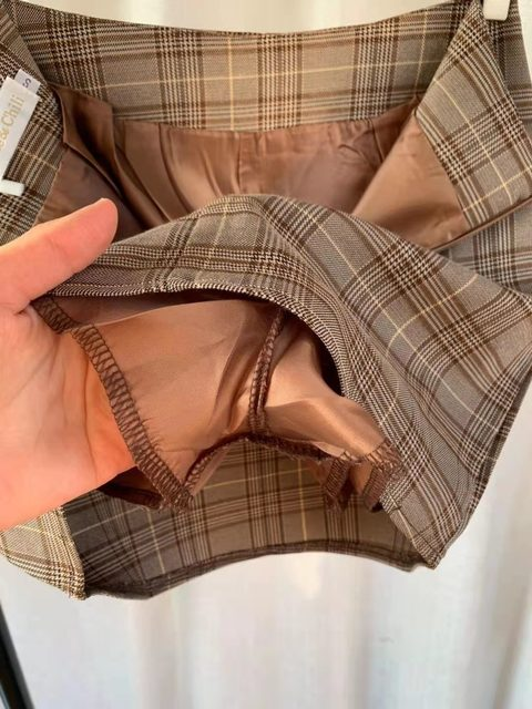 plaid skirts suits Girls Female Vintage Autumn elegant Women's Sets (Separate) women two piece outfits 2 piece outfits for women 6