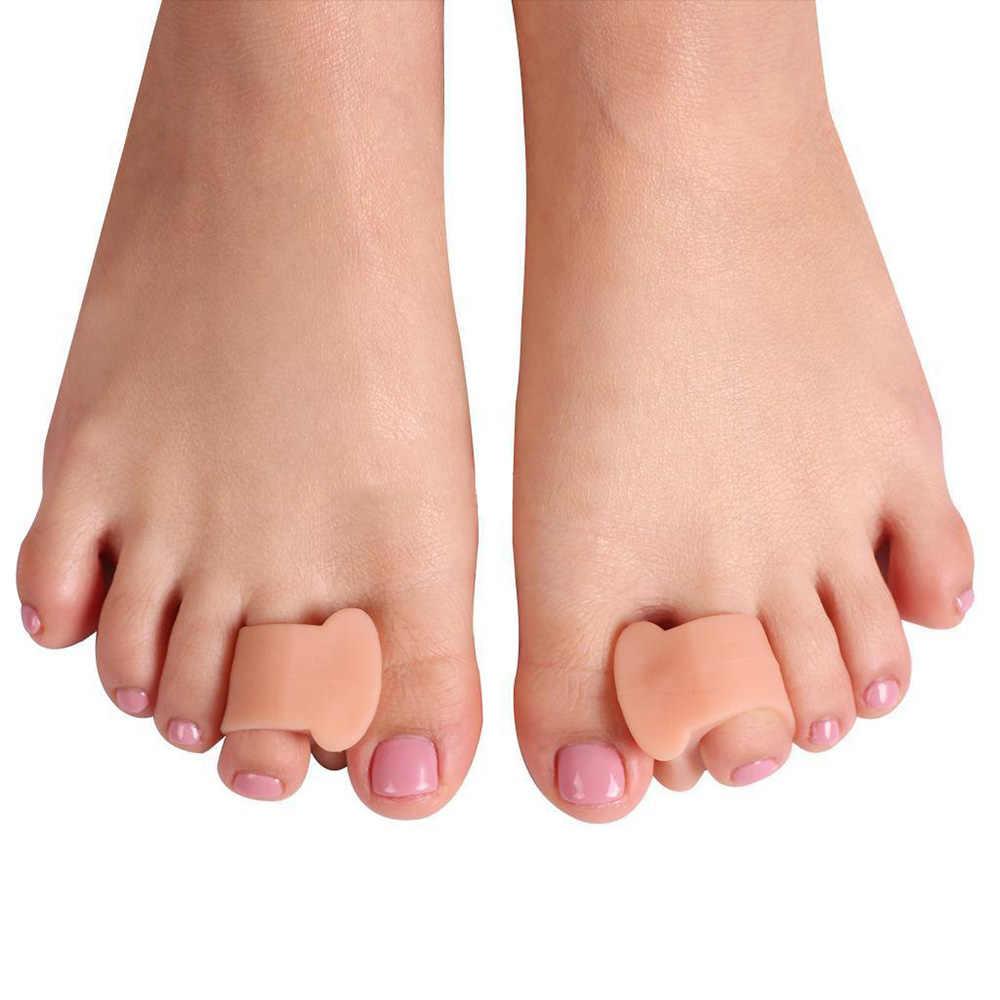 2 uds de Gel de silicona juanete Corrector para dedo del pie ortopédico plancha de cuidado de los pies Corrector herramientas diario hueso del dedo del ortopédicas