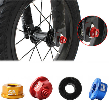2 Pcs Children's Slide Cars Front Wheel Bicycle Hubs Rear wheel Screw Cap Bolt M8 Hub Nut Balance Bike Flower Drum Nut image